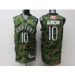 NBA Raptors #10 derozan Camo Swingman Jersey