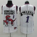 NBA Toronto Raptors Tracy Mcgrady #1 white jersey
