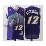 NBA snow mountain version Jerseys Utah Jazz stockton #12 Purple Jersey