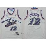NBA snow mountain version Jerseys Utah Jazz stockton #12 white Jersey