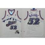 NBA snow mountain version Jerseys Utah Jazz malone #32 white Jersey
