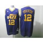 NBA Throwback Jerseys Utah Jazz stockton #12 purple Jersey