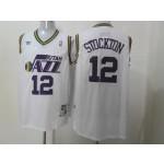 NBA Throwback Jerseys Utah Jazz stockton #12 white Jersey