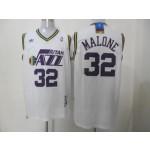 NBA Throwback Jerseys Utah Jazz malone #32 white Jersey