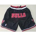 Bulls Black 1997-98 All Stitched Shorts