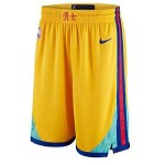 Warriors Gold City Edition Nike Swingman Shorts