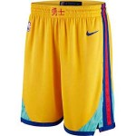 Men's Golden State Warriors Nike Gold City Edition Swingman Short