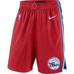 Men's Philadelphia 76ers Nike Red Statement Swingman Basketball Shorts