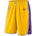 Men's Los Angeles Lakers Nike Yellow Icon Swingman Basketball Shorts