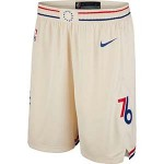 Men's Philadelphia 76ers Nike Cream City Edition Swingman Shorts