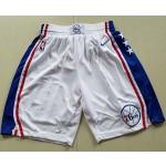 Men's Philadelphia 76ers Nike White Swingman Basketball Shorts