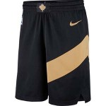 Men's Toronto Raptors Nike Black City Edition Swingman Shorts