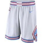 Men's Chicago Bulls Nike White City Edition Swingman Shorts