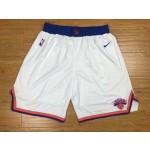 Knicks White Nike Authentic Shorts