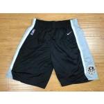 Spurs Black Nike Authentic Shorts