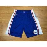 76ers Blue Nike Authentic Shorts