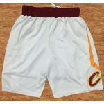 Nike Men's Cleveland Cavaliers White Swingman Basketball Shorts
