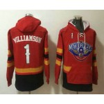 Men's New Orleans Pelicans #1 Winning Williamson NEW Red Pocket Stitched NBA Pullover