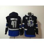 Mavericks #41 Dirk Nowitzki Black All Stitched Hooded Sweatshirt