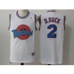 Tune Squad #2 D.Duck White Stitched Movie Jersey