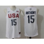 NBA Anthony #15 white The American dream jersey