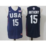 NBA Anthony #15 Blue The American dream jersey