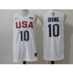 NBA Irving #10 White The American dream jersey
