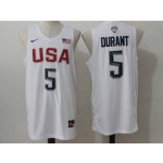 NBA Durant #5 white The American dream jersey