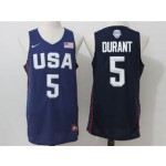 NBA Durant #5 Blue The American dream jersey
