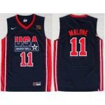 NBA USA Team 1992 Karl Malone #11 navy blue jersey