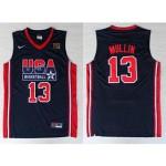 NBA USA Team 1992 Chris Mullin #13 navy blue jersey