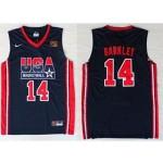 NBA USA Team 1992 Charles Barkley #14 navy blue jersey
