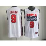 NBA Throwback Olympic Games USA Michael Jordan #9 white
