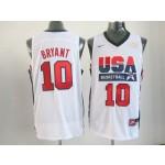 NBA Throwback Olympic Games USA Kobe Bryant #10 white
