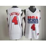 NBA Throwback Olympic Games USA Christian Laettner #4 white