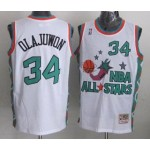 NBA ALL STARS 1996 Olajuwon #34 White Jersey