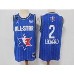 NBA 2020 All Star Game Leonard #2 blue Jersey