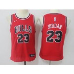 Bulls #23 Michael Jordan Red Youth Nike Swingman Jersey