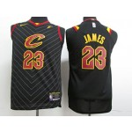 Kids Cavaliers #23 LeBron James Black Nike Jersey