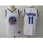 Warriors #11 Klay Thompson White Youth Nike Swingman Jersey