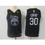 Warriors #30 Stephen Curry Black Youth Nike Swingman Jersey