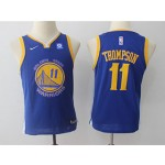 Warriors #11 Klay Thompson Blue Youth Nike Swingman Jersey