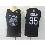 Warriors #35 Kevin Durant Black Youth The Town Nike Swingman Jersey