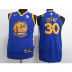 Kids Warriors #30 Stephen Curry Blue 2017-18 Nike Jersey