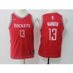 Rockets #13 James Harden Red Youth Nike Swingman Jersey