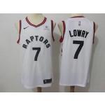 Raptors #7 Kyle Lowry white kids Jersey