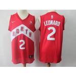 Raptors #2 Kawhi Leonard red Earned Edition Nike Kids Jersey