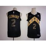 NBA Raptors Kawhi Leonard #2 Black City Edition Nike kids Jersey