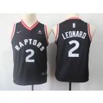 Raptors #2 Kawhi Leonard Black Youth Nike Swingman Jersey