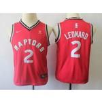 Raptors #2 Kawhi Leonard red Kids Nike Jersey